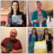 Happy authors with books