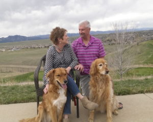 Brenda and Glenn Bott with the dogs